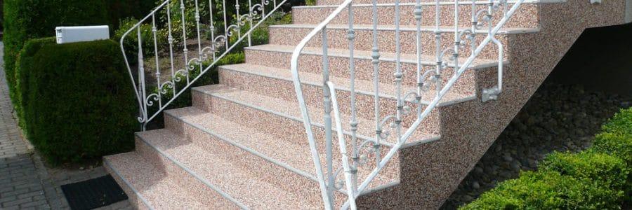 Ausgetretene Treppenstufen reparieren