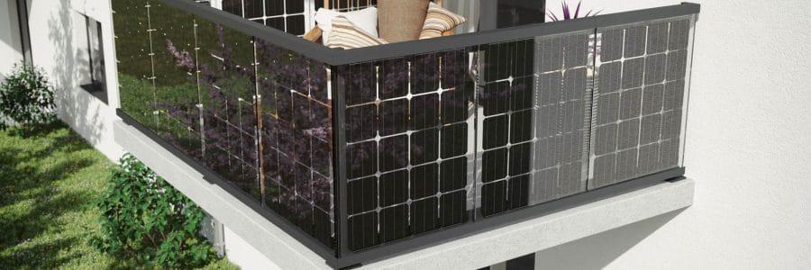 Balkon Solaranlage Fotovoltaikgeländer